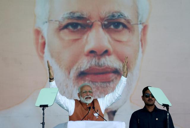 """""""โมดี"""" มั่นใจจะชนะการเลือกตั้งใหญ่ของอินเดียอย่างง่ายดาย"""