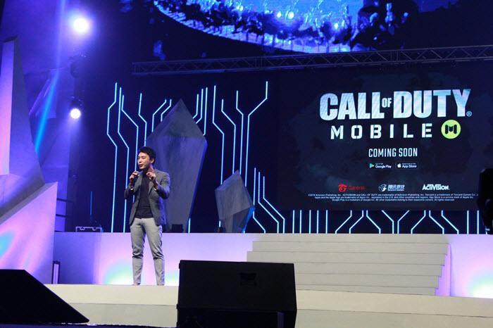 คุณอัลเลน ซู Regional Head of Strategic Partnership and eSports Development บริษัท การีน่า ออนไลน์ (ประเทศไทย) เซอร์ไพรส์เปิดตัวเกมใหม่ Call of Duty Mobile