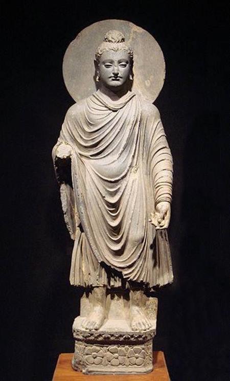 พระพุทธรูปศิลปะคันธาระ ที่พิพิธภัณฑสถานแห่งชาติโตเกียว