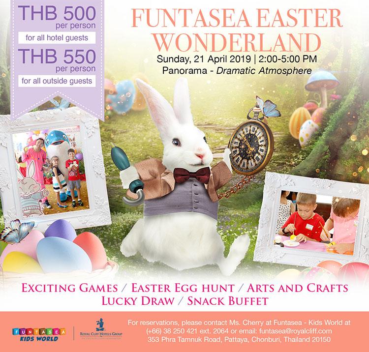 """เทศกาลล่าไข่อีสเตอร์สำหรับคุณหนูๆกลับมาอีกครั้ง กับงาน """"Funtasea Easter Wonderland"""" สำรองที่นั่งได้แล้ววันนี้!"""