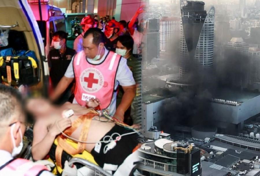 รพ.จุฬาฯ เผยบาดเจ็บเหตุไฟไหม้เซ็นทรัลเวิลด์ เหลือ 6 ราย คาดไม่นานกลับบ้านได้