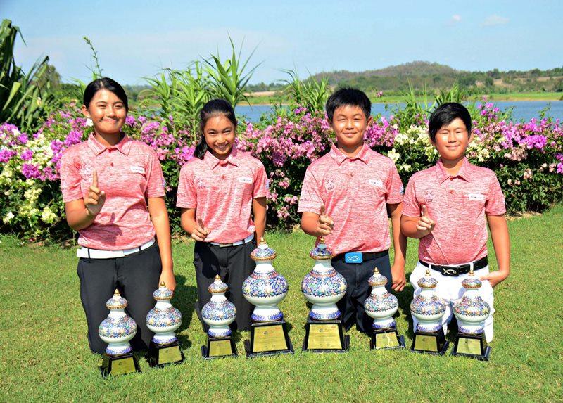 เด็กไทยจากสมาพันธ์นักกอล์ฟเยาวชนไทย แชมป์ประเภททีม 3 วัน