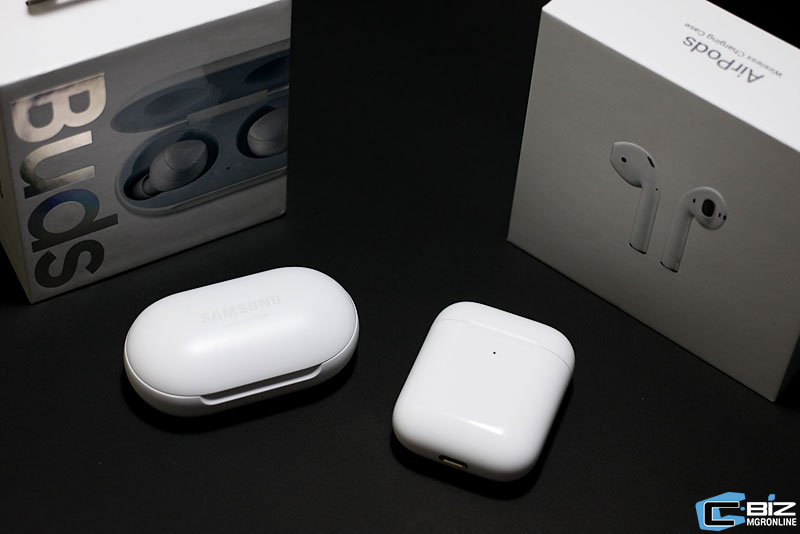Review : Apple AirPods 2 ปะทะ Galaxy Buds