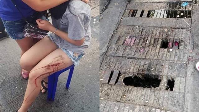ท่อผุ! หญิงเดินผ่านพลัดตกได้รับบาดเจ็บ วอนหน่วยงานเกี่ยวข้องแก้ไขด่วน