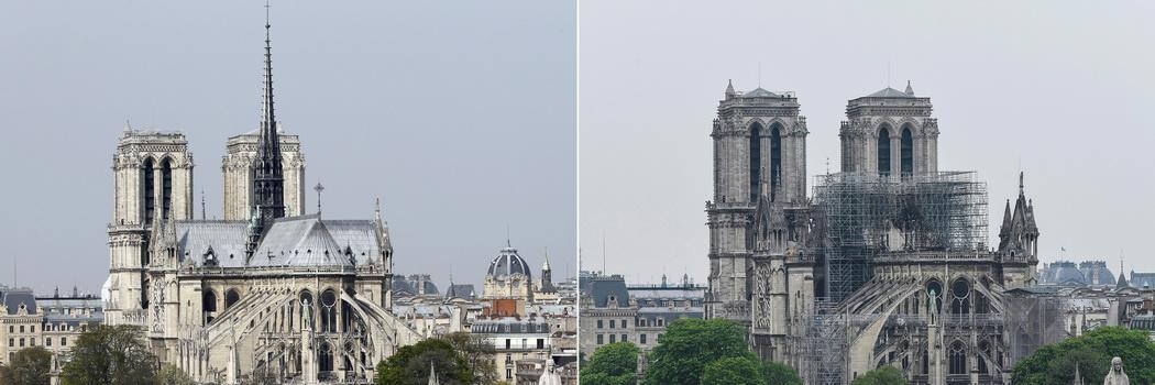 """'มาครง'ลั่นบูรณะ""""น็อทร์ดาม""""งามกว่าเดิม ขีดเส้นให้แล้วเสร็จทันปารีสโอลิมปิก2024"""