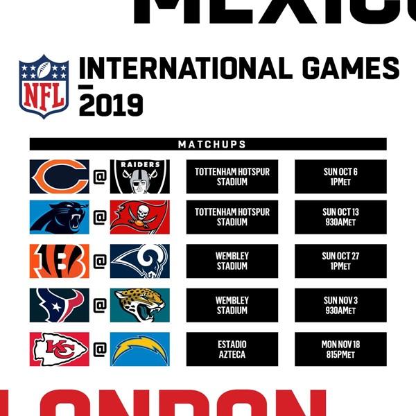 "NFL จัดโปรแกรม ""แบร์ส"" ปะทะ ""เรดเดอร์ส"" เปิดซิงบ้านใหม่ ""สเปอร์ส"""