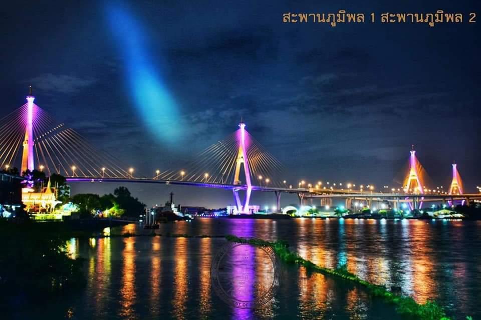 ทช.ประดับไฟสะพานข้ามแม่น้ำเจ้าพระยา 10 แห่ง เฉลิมพระเกียรติ