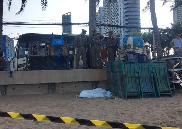พบศพพนักงานล้างจานร้านอาหารดังย่านชายหาดจอมเทียน สภาพท่อนร่างเปลือย