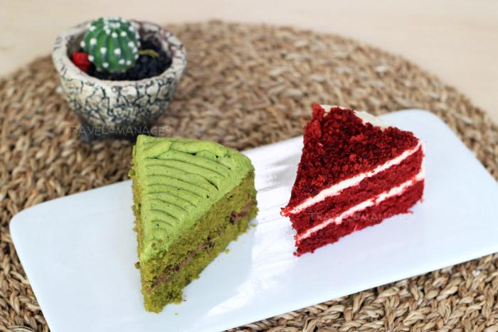 เค้กเรดเวลเวท และ เค้กชาเขียวถั่วแดง