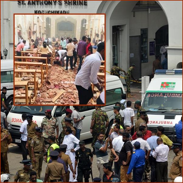 """In Clips: ด่วน!!เกิดระเบิด 6 ครั้งติดโจมตี """"โรงแรมแชงกรี-ลา"""" และรร.หรูอีก 2 โบสถ์ 3 แห่งในศรีลังกา รับวันอีสเตอร์  ดับ 42 บาดเจ็บ 300"""