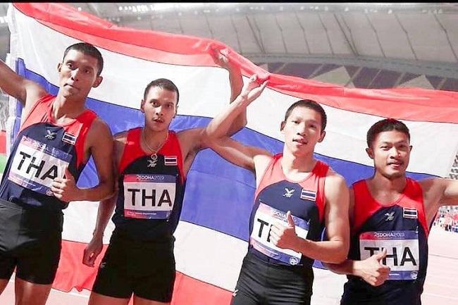 ลมกรดหนุ่มไทยกู้ชื่อ ผงาดคว้าทอง 4x100 กรีฑาชิงแชมป์เอเชีย