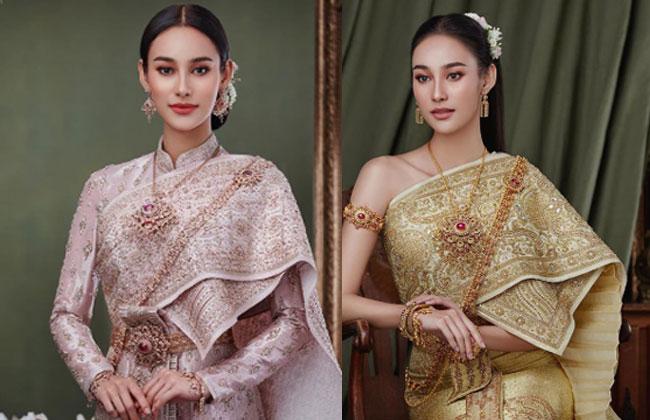 """""""นาว ทิสานาฏ"""" สวยเฉิดฉายดั่งภาพวาดสาวงามในอดีตกับชุดไทยสุดคลาสสิก"""