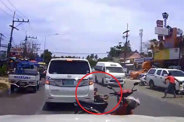 วงจรปิด เผยนาทีรถตู้ชนแม่ - ลูก บาดเจ็บ สาหัส สามีร้องให้ ตร.ช่วยเร่งรัดคดี