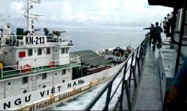 อินโดฯ รวบตังเกเวียดนาม 12 คน หลังเรือยามฝั่งเหวียนชนเรืออิเหนาในทะเลจีนใต้