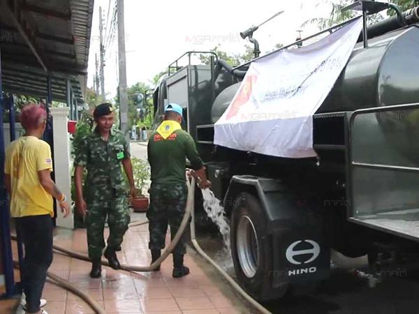 กองทัพภาค 4 ส่งรถน้ำกู้วิกฤติหมู่บ้านในเมืองคอน พบโรงสูบน้ำ 47 ล้านไม่ได้ใช้งาน
