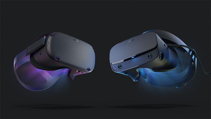 Oculus Quest (ซ้าย) และ Oculus Rift S (ขวา)