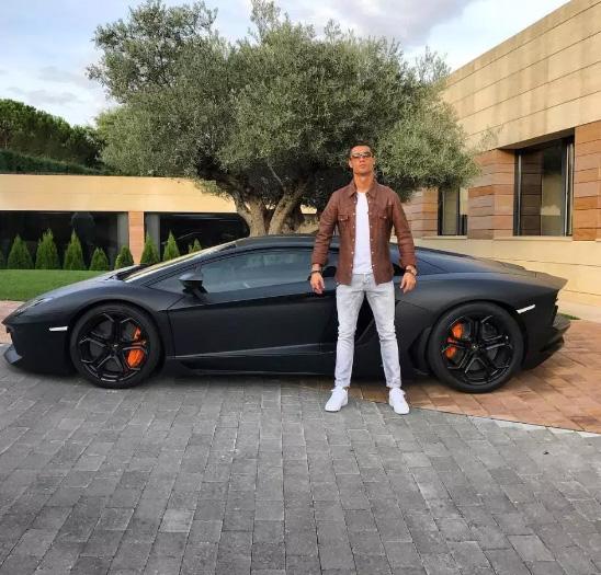 matt-black Lamborghini