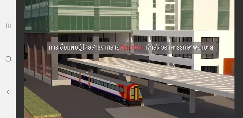 """สถานีรถไฟฟ้า""""ศิริราช""""โมเดลแก้จราจร  ออกแบบร่วมเชื่อมสายสีแดง-สีส้มเข้าโรงพยาบาล"""
