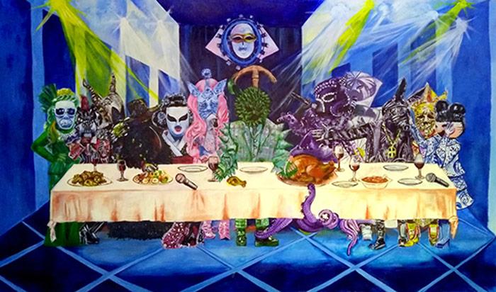 ศิลปิน: เพ้นท์ฟ้า ชื่อผลงาน: The Last Supper version The Mask Singer & Identity V
