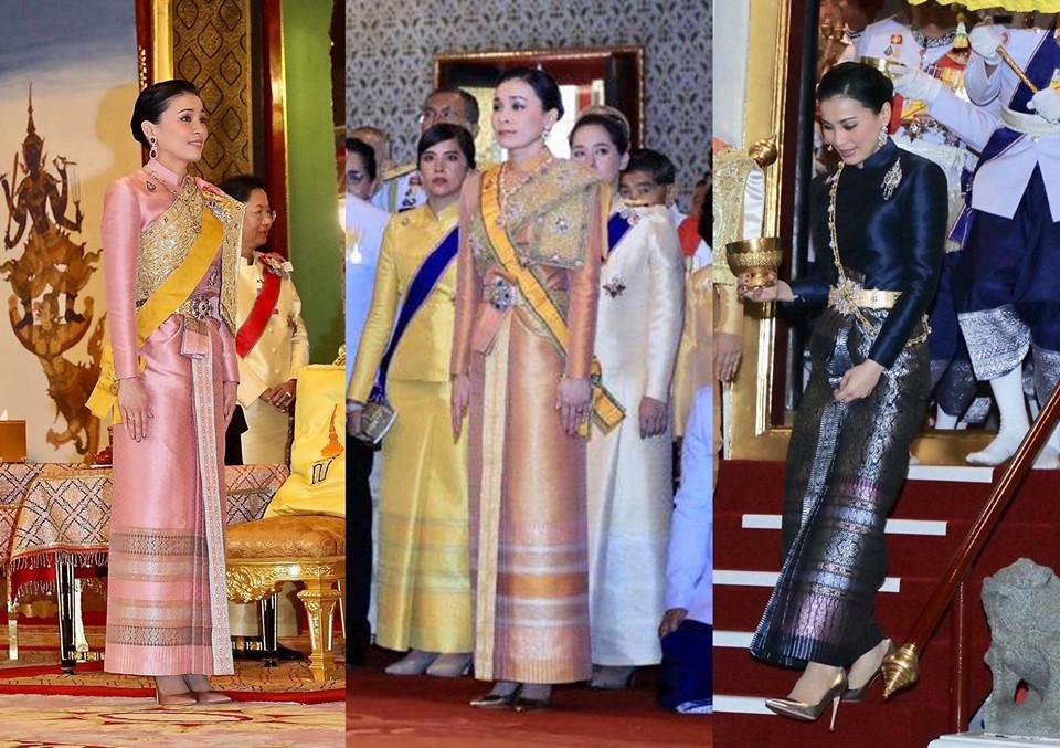 ฉลองพระองค์ผ้าไทย สมเด็จพระนางเจ้าฯ พระบรมราชินี ในการพระราชพิธีบรมราชาภิเษก พุทธศักราช 2562