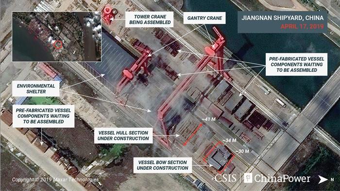 จีนซุ่มต่อเรือบรรทุกเครื่องบินลำที่ 3  ลำใหญ่ฟูลไซซ์ชูฐานะมหาอำนาจนาวีแห่งเอเชีย