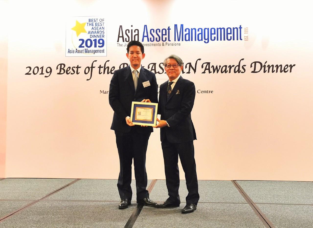 วิน คว้ารางวัล CEO ยอดเยี่ยมปี 2019  จากนิตยสาร Asia Asset Management ณ ประเทศสิงค์โปร์