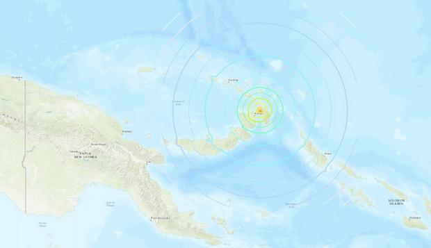 ประกาศเตือนสึนามิ หลังแผ่นดินไหวตื้นรุนแรง7.5สั่นสะเทือนนอกชายฝั่งปาปัวนิวกินี