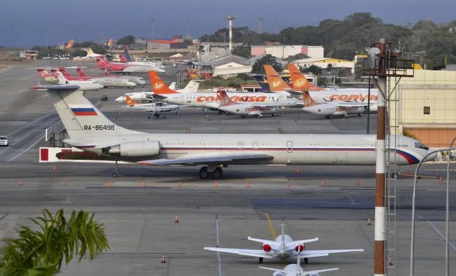 (แฟ้มภาพ) เครื่องบินทหารรัสเซียที่เดินทางถึงเวเนซุเอลาเมื่อเดือนที่แล้ว