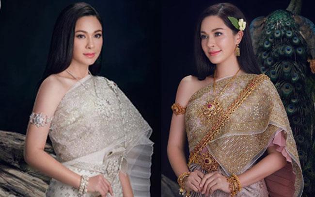 """งดงามระดับตำนาน """"แหม่ม คัทลียา"""" สวยสง่าสวมชุดไทยเป็น""""แม่นกยูง"""" แห่งเรือนมยุราอีกครั้ง"""
