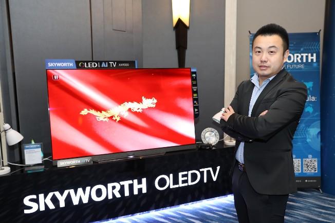 """สกายเวิร์ท """"SKYWORTH"""" ลั่น ก้าวสู่ผู้นำตลาดทีวีอัจฉริยะ AIoT  ตั้งเป้ายอดขายติดท็อป 3 ในไทยภายในปี 2024"""