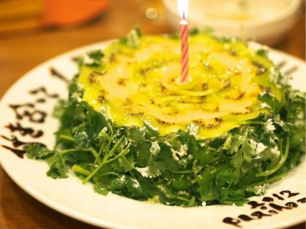เค้กผักชี ภาพจาก https://news.ameba.jp/