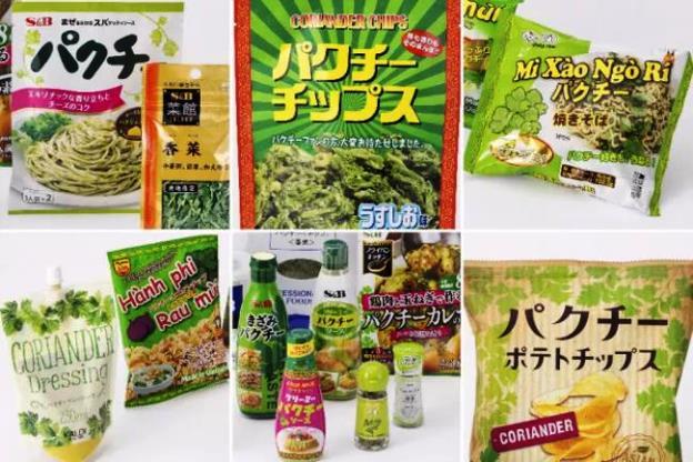 อาหาร ขนม และเครื่องปรุงผักชี ภาพจาก https://style.nikkei.com/