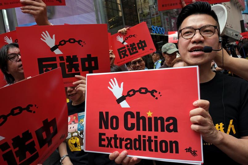 รมว.ตปท.สหรัฐฯ พบนักเคลื่อนไหวปชต.ฮ่องกง-ค้านแก้กม.ส่งผู้ร้ายข้ามแดนไปจีน