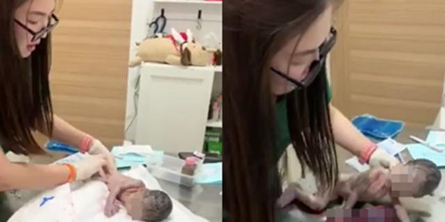 สัตวแพทย์สาว! เข้าช่วยสาวท้องแก่คลอดกลางซอย สุดท้ายทารกปลอดภัย (ชมคลิป)