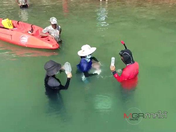 ครั้งแรกในประเทศไทย อนุบาลลูกพะยูนในทะเล ป้อนนม สอนกินหญ้าทะเล เสมือนเป็นแม่