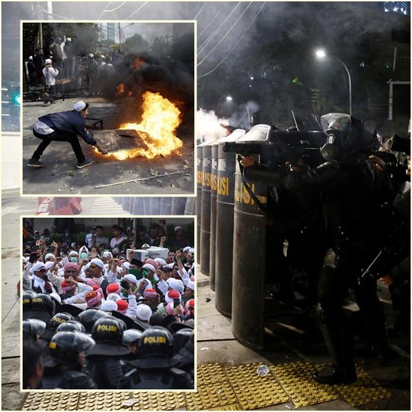In InPics&Clips: อินโดนีเซียจลาจลดุ!! ดับ 6 เจ็บกว่า200 ม็อบจุดไฟเผารถกลางจาการ์ตา-ปะทะตำรวจ ไม่พอใจผลเลือกตั้ง