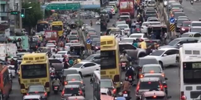 เสี่ยงอันตราย! แยกแห่งความวุ่นวายเลี่ยงเมืองนนทบุรี ถนนพิบูลสงคราม  (ชมคลิป)
