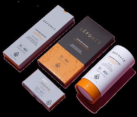 ช็อกโกแลตกัญชาเดฟองเซ (ภาพจากเว็บไซต์เดฟองเซ)