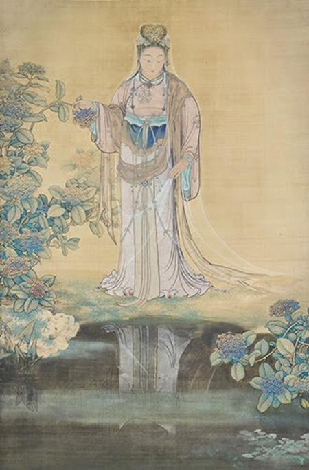 """""""กระจกน้ำ"""" (257.8 × 170.8 ซม.) มหาวิทยาลัยศิลปะโตเกียว"""