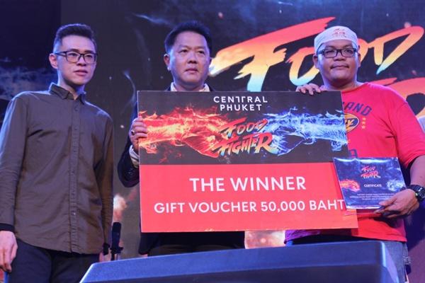 """ได้แล้ว! แชมป์กินจุคนแรกของภูเก็ต ในการแข่งขัน """"Central Phuket Food Fighter 2019"""" คว้ารางวัลกว่า 145,000 บาท"""