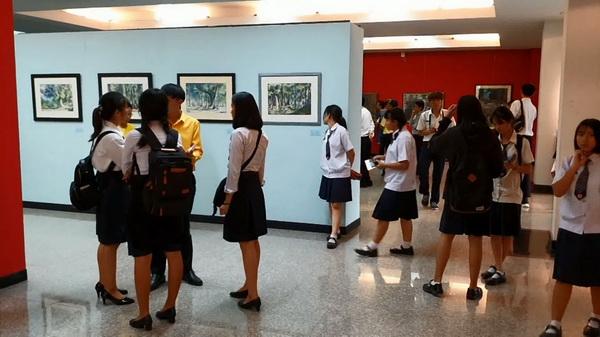 """กลุ่มศิลปินศิลป์ศรีวนาลัยร่วมวิทยาลัยอาชีวะอุบลฯ จัดศิลปะ """"อารยธรรมสีน้ำ"""""""