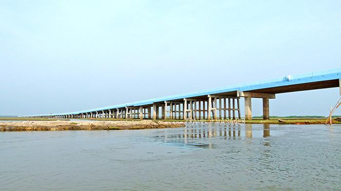 สะพานเฉลิมพระเกียรติ 80 พรรษาฯ สร้างทอดยาวเชื่อม 2 จังหวัด พัทลุง-สงขลา