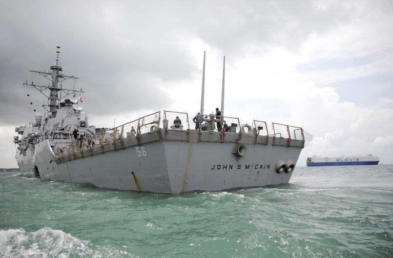 เพนตากอนรับเสียงอ่อย ถูกสั่งให้นำเรือพิฆาต 'จอห์น แมคเคน' ไปซ่อนขณะ 'ทรัมป์' เยือนญี่ปุ่น