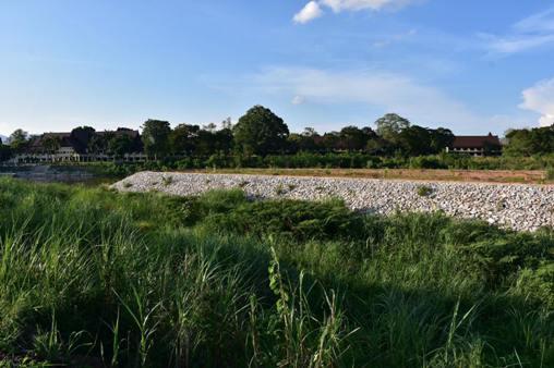 """ยัน""""เกาะกลางน้ำกก""""เป็นที่สาธารณะฯ เทศบาลเชียงรายระบุวันนี้แค่ปลูกต้นไม้กันคนบุกรุก"""