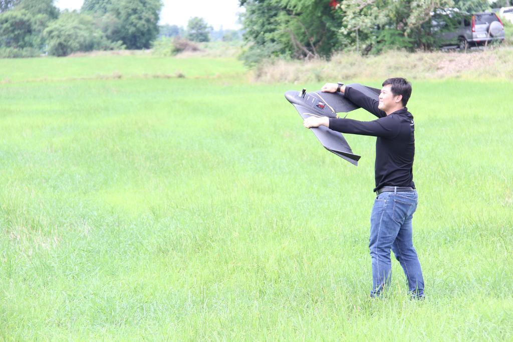เทคโนโลยี UAV (อากาศยานไร้คนขับ) เพื่อสำรวจติดตามบันทึกการเกิดโรคและแมลงศัตรูพืชในแปลงนาข้าว
