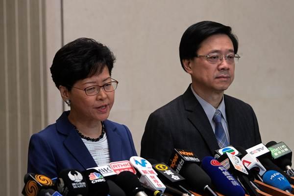 ผู้นำสูงสุดฮ่องกง แครี่ ลัม ยืนยันเดินหน้ากฎหมายส่งผู้ร้ายข้ามแดนแปจีน และไม่ลาออก