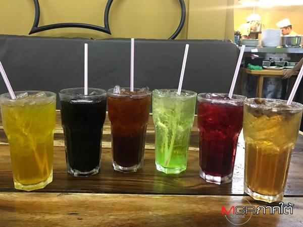 เครื่องดื่ม มีให้ลูกค้าเลือกได้หลากหลาย