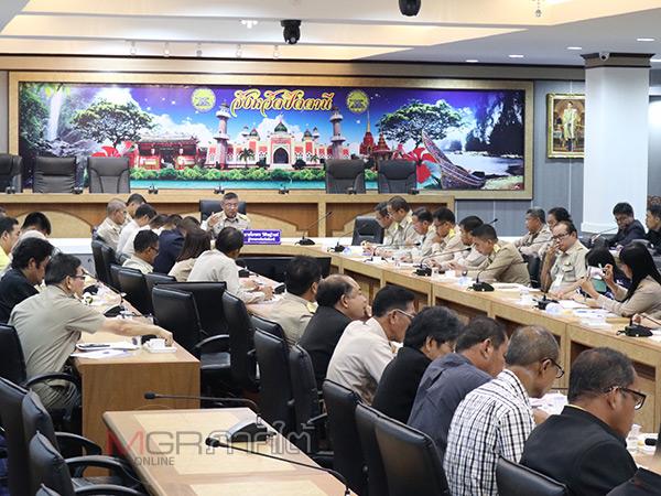 ปัตตานีจัดประชุมจัดตั้งศูนย์บัญชาการเหตุการณ์ด้านอุทกภัยและดินถล่ม