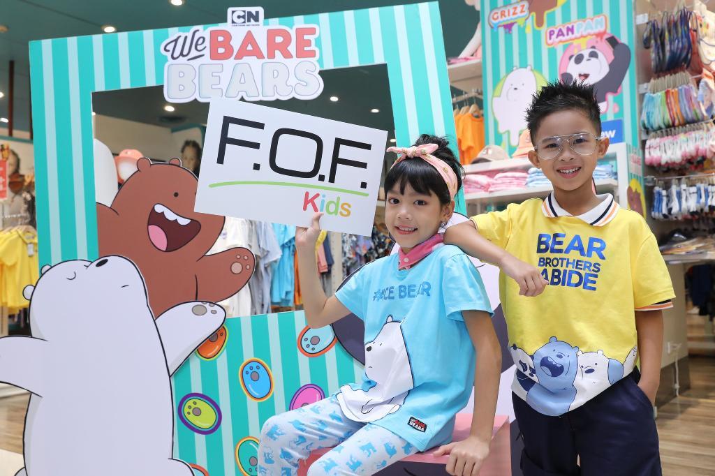 """""""โรบินสัน"""" รุกแฟชั่นรุ่นจิ๋ว ส่ง 'F.O.F. Kids' ผนึกคาร์แรคเตอร์'We Bare Bears'ปั้นลิมิเต็ด"""