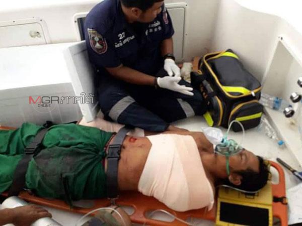 ระทึก! กู้ภัยเข้าช่วยชีวิตลูกเรือแขนขาดกลางทะเล เร่งนำกลับฝั่งส่งโรงพยาบาล